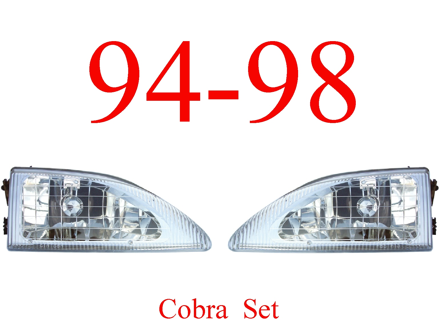 94-98 Mustang Cobra 2Pc Head Light Set
